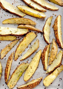 Healthy Baked Potato Wedges