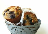 Use thawed frozen blueberries for muffins!